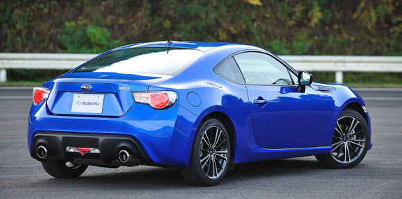 2013 Subaru BRZ back view