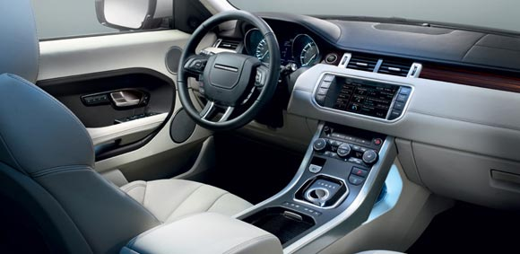 2013 land rover range rover evoque interior 5 Best Luxury SUV Lease Deals This Summer of 2013
